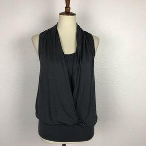 Tart Gray Knit Tank Top